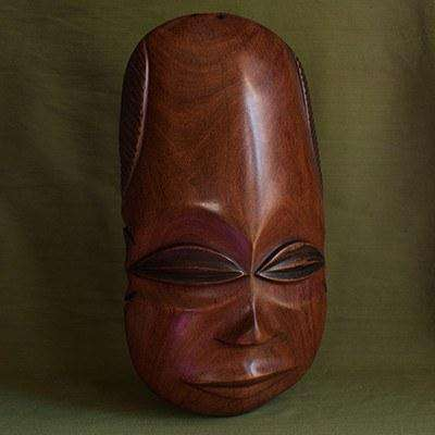 Wooden Mask from Zambia - Africa Handmade