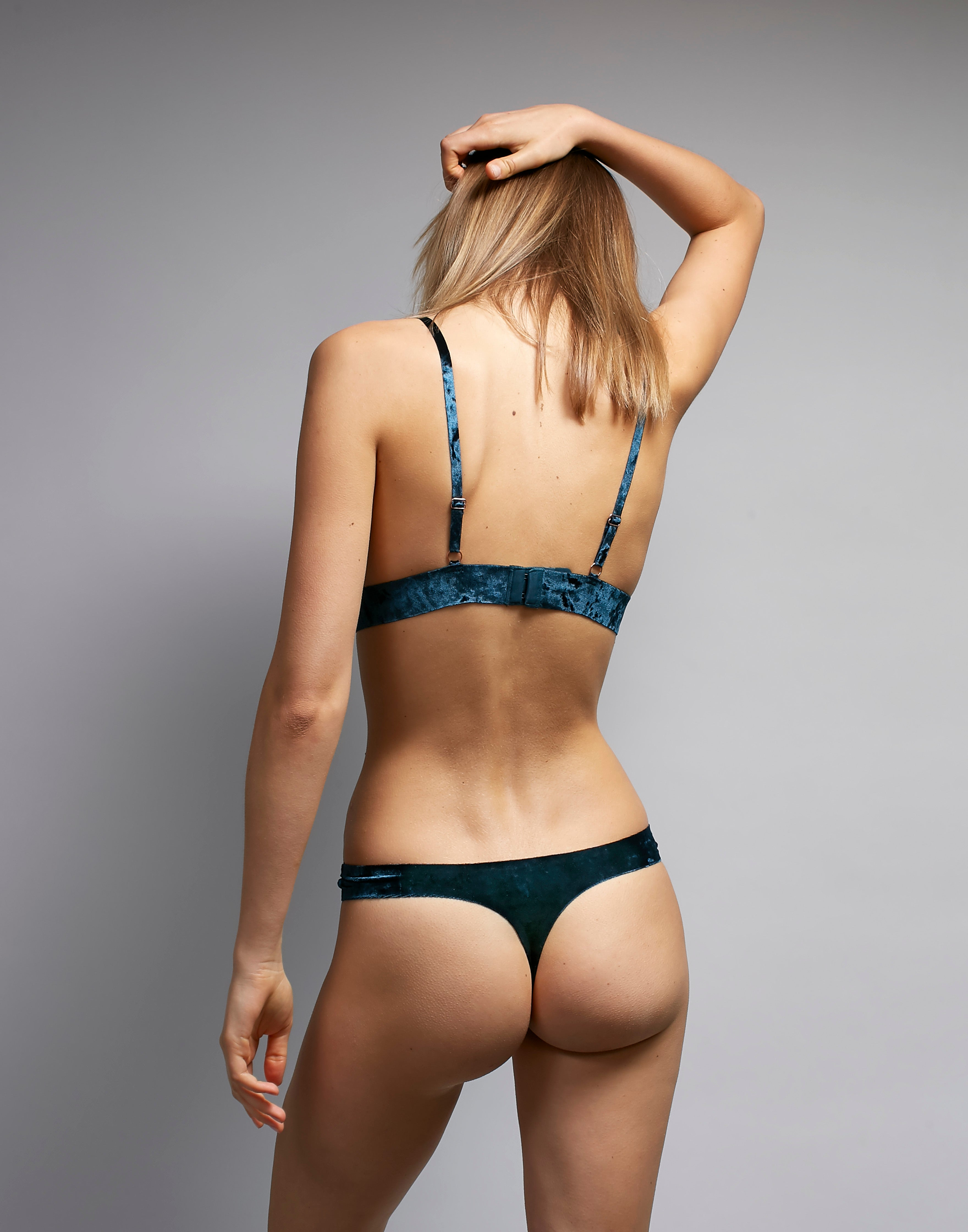 Crushed  Velvet Thong