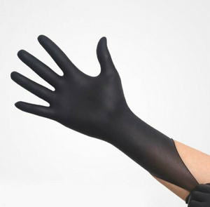 High Performance Powder Free Black Nitrile Gloves (100 pcs)