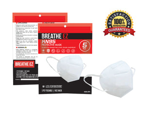 BREATHE EZ KN95 Protective Face Mask (Pack of 5)