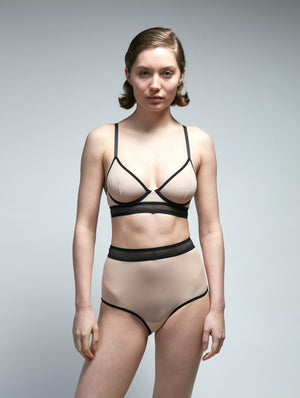 Borderline Mesh Underwire Bra