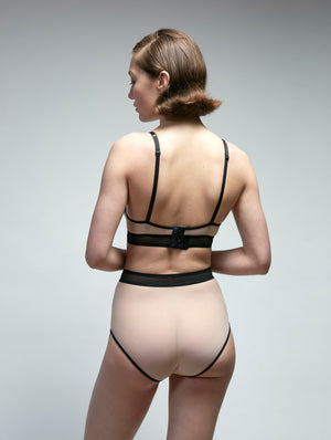 Borderline Mesh High Waist Brief