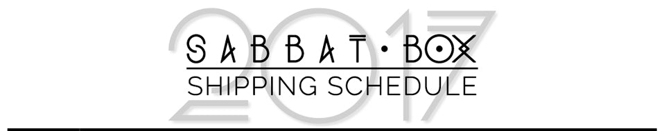 2017 Sabbat Box Shipping Schedule - Sabbat Box Subscription Box For Witches, Wiccans, and Pagans