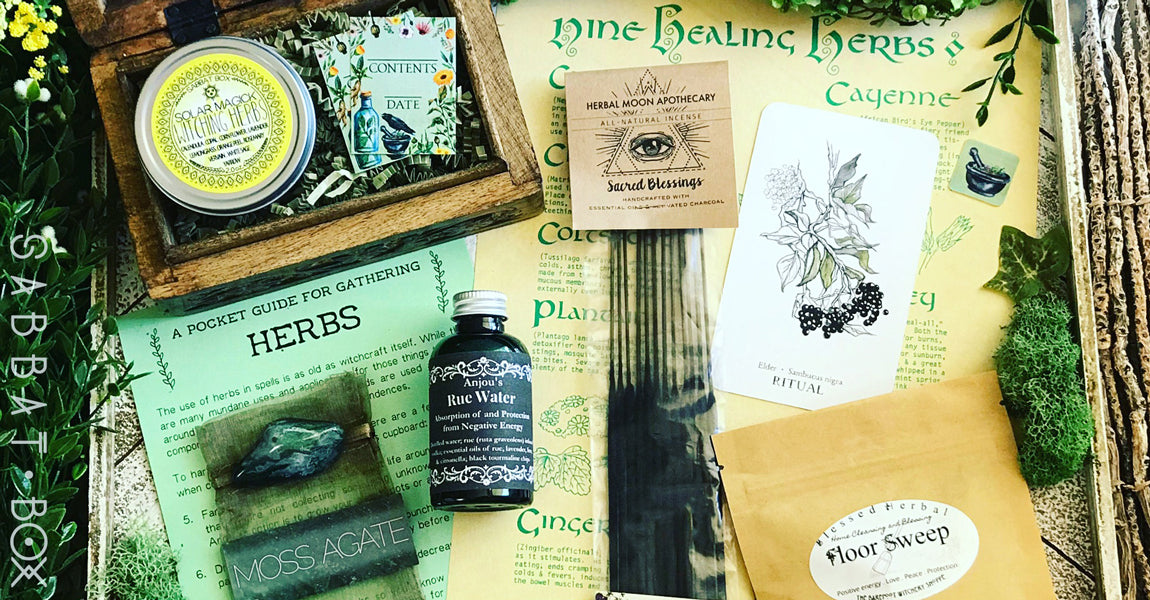 Midsummer Sabbat Box Herbal Witchery Witch Subscription Box For Litha Summer Solstice