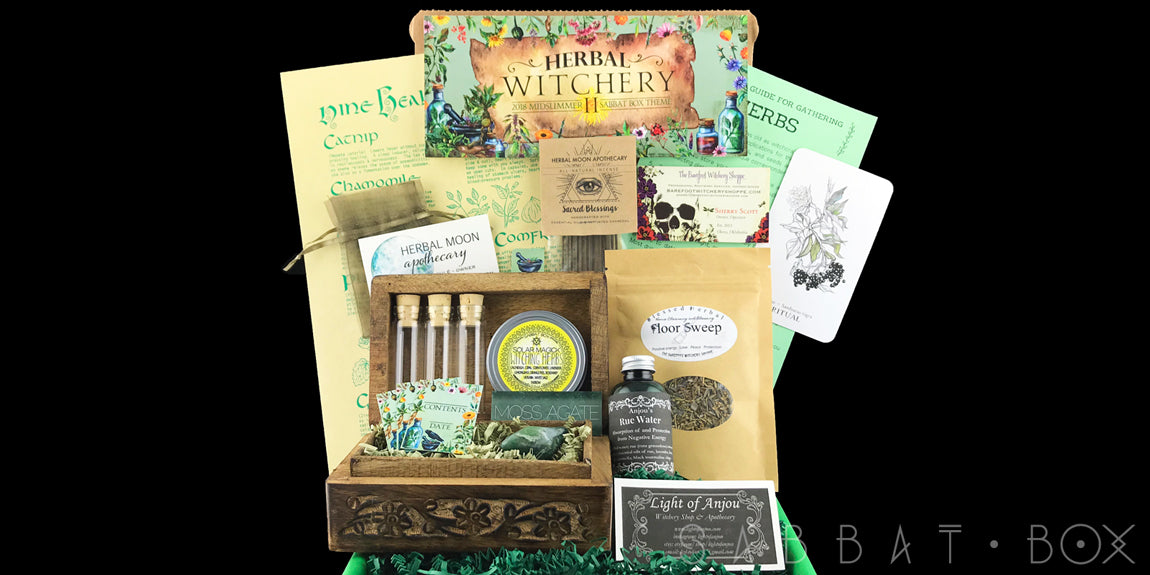 Sabbat Box Witch Subscription Box Herbal Witchery Midsummer 2018 Box Subscription Box For Pagans