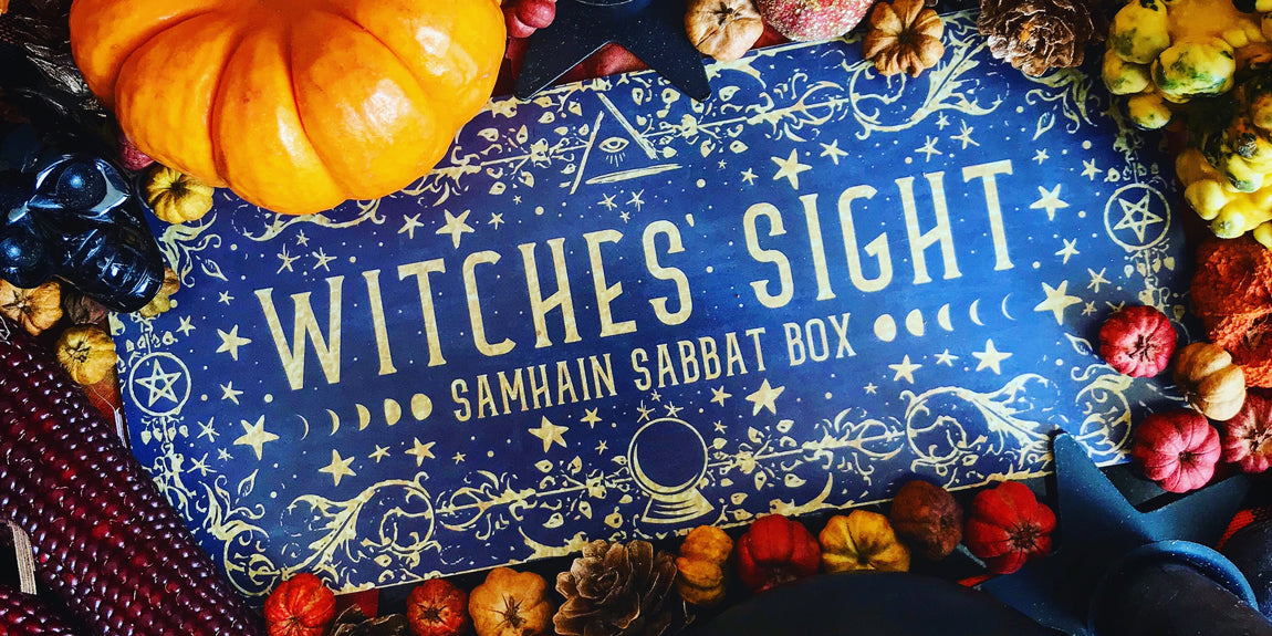 2018 Samhain Sabbat Box - Witches' Sight Sabbat Box Theme - Wiccan Ritual Supplies Pagan Supplies Witch Subscription Box