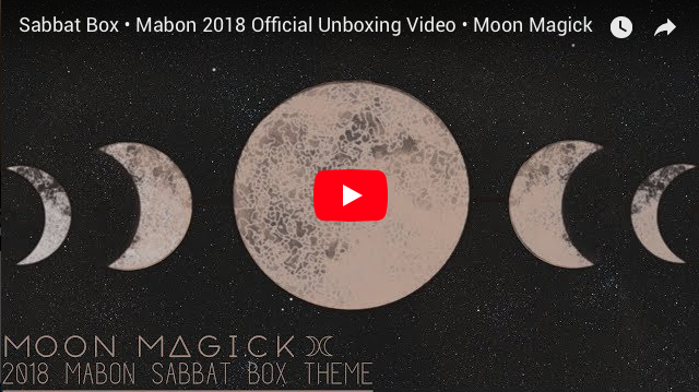 2018 Mabon Sabbat Box - Moon Magick Sabbat Box - Witch Subscription Box Pagan Subscription Box