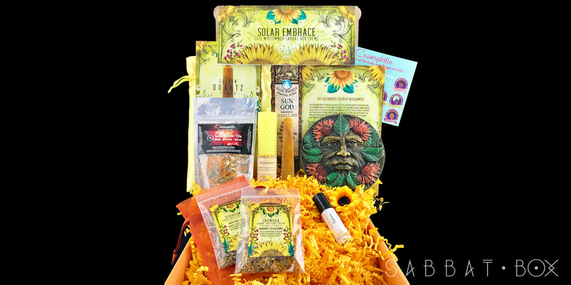 2019 Midsummer Sabbat Box - Solar Embrace - Witch Subscription Box Wiccan Subscription Box