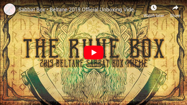 The Rune Box 2019 Beltane Sabbat Box Unboxing Video