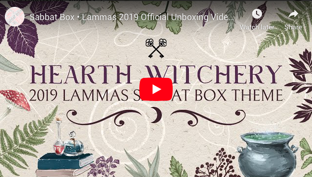 2019 Lammas Sabbat Box Hearth Witchery Witch Subscription Box