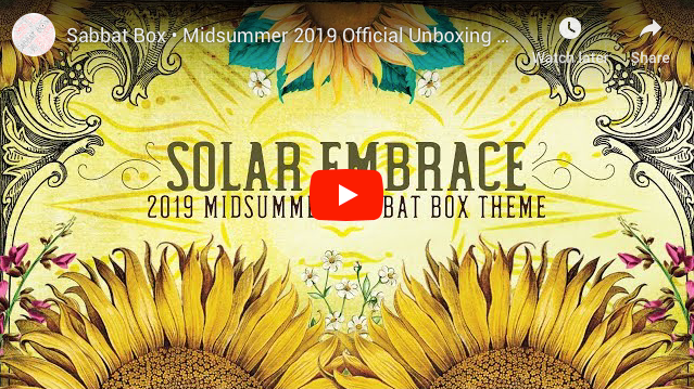 2019 Midsummer Sabbat Box - Solar Embrace Unboxing Video