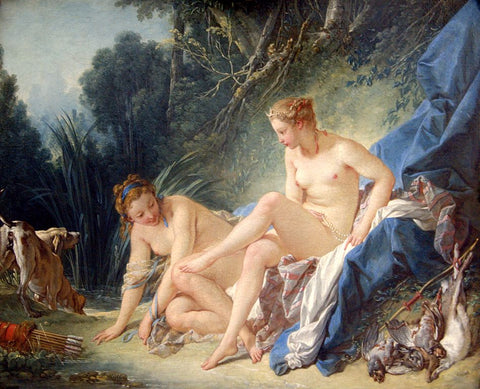 Diana Leaving Her Bath, by François Boucher, 1742. Public domain