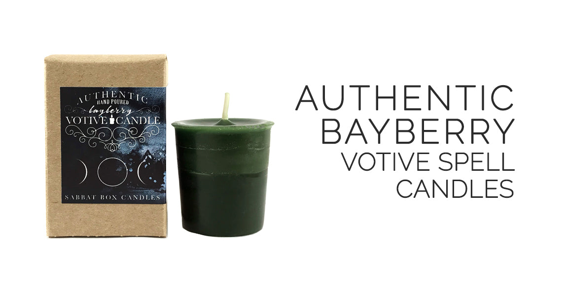 Bayberry Spell Candles By Sabbat Box - Authentic Bayberry Candles