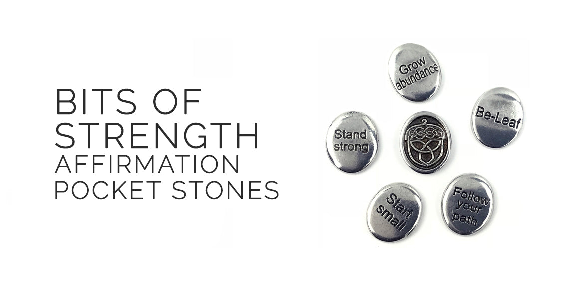 Bits of Strength Pocket Affirmation Stones By Deva Designs - Sabbat Box