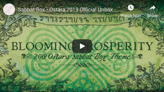 Blooming Prosperity 2019 Ostara Sabbat Box Unboxing Video - Witch Subscription Box