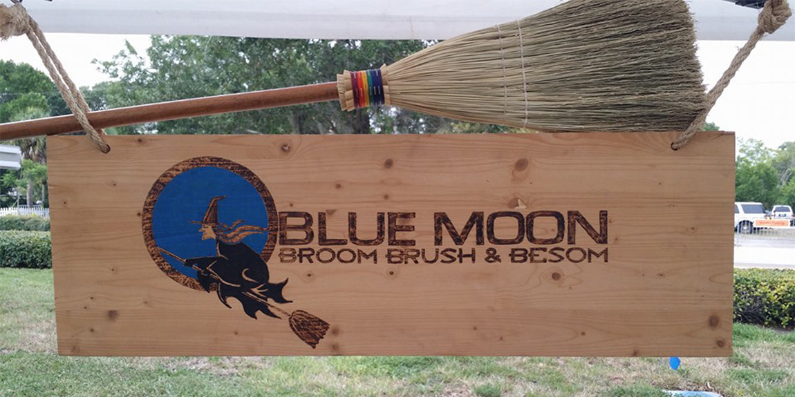 Blue Moon Broom Brush and Besom