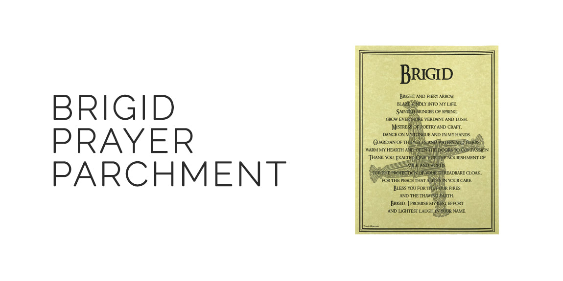 Brigid Prayer Parchment - Book of Shadows Page