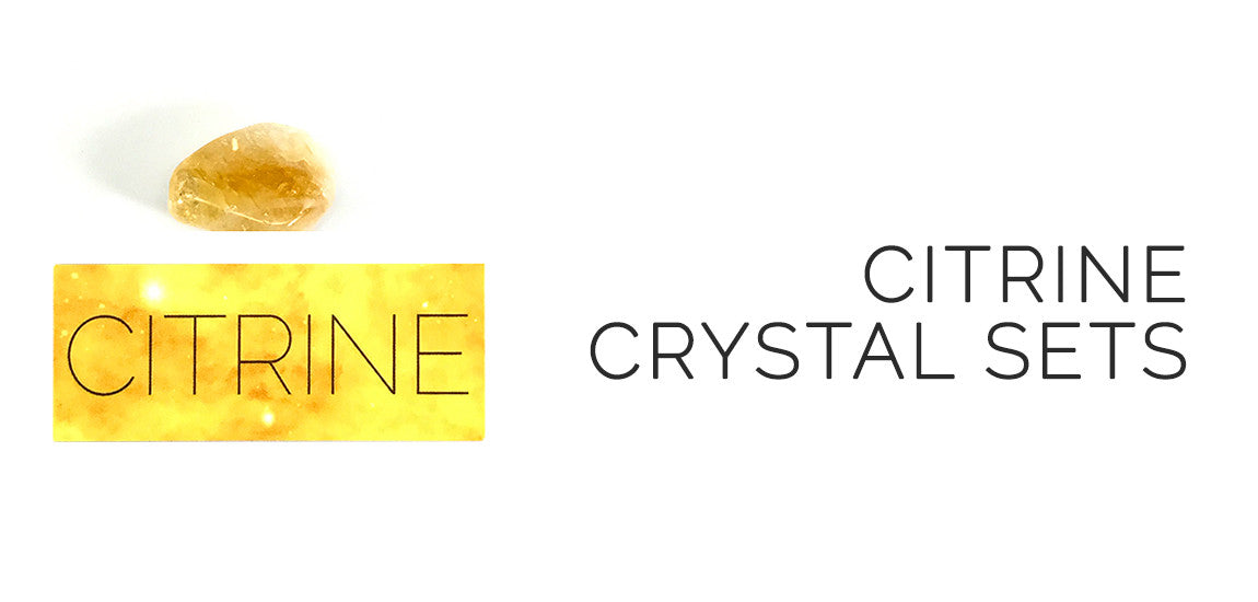 Citrine Crystal Sets