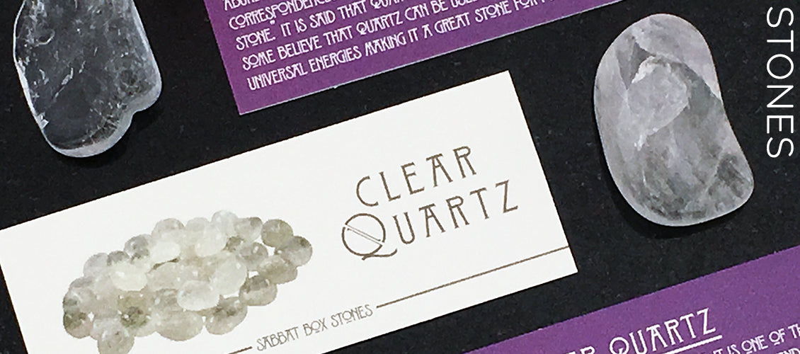 Clear Quartz Tumbled Gemstone Set