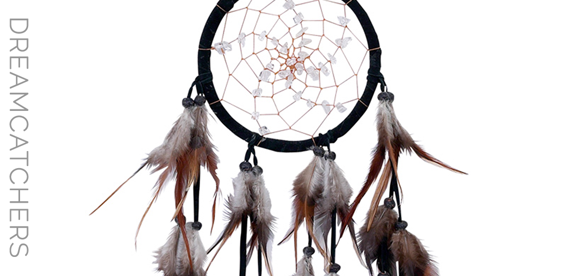 Handcrafted Spiral Dreamcatcher With Quartz Crystals