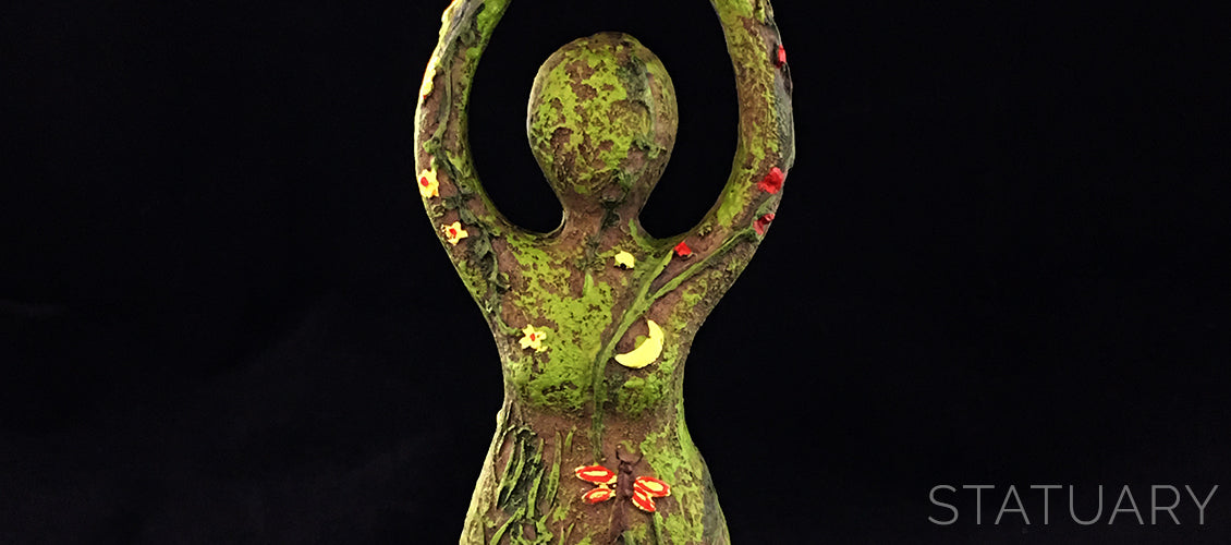 Nature Goddess Statue Wiccan Earth Goddess Statue - Sabbat Box