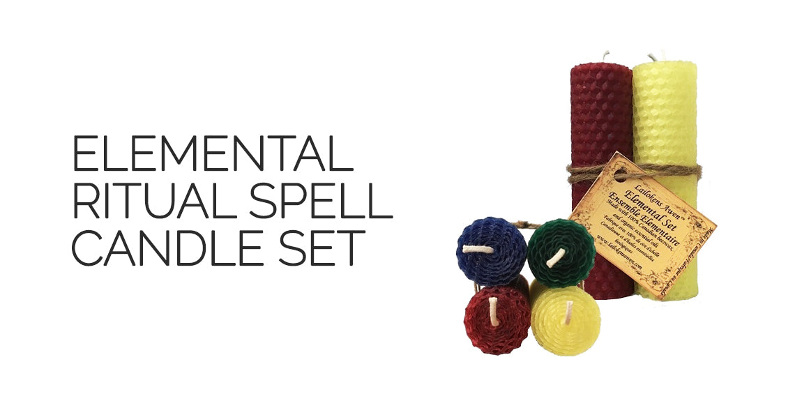 Elemental Ritual Spell Candle Set By Lailoken's Awen