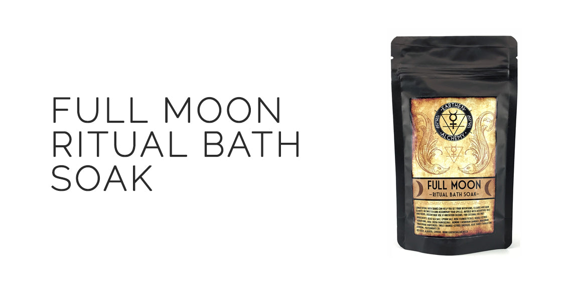 Full Moon Ritual Bath Soak By Earthen Alchemy - Mabon Sabbat Box Moon Magick Sabbat Box