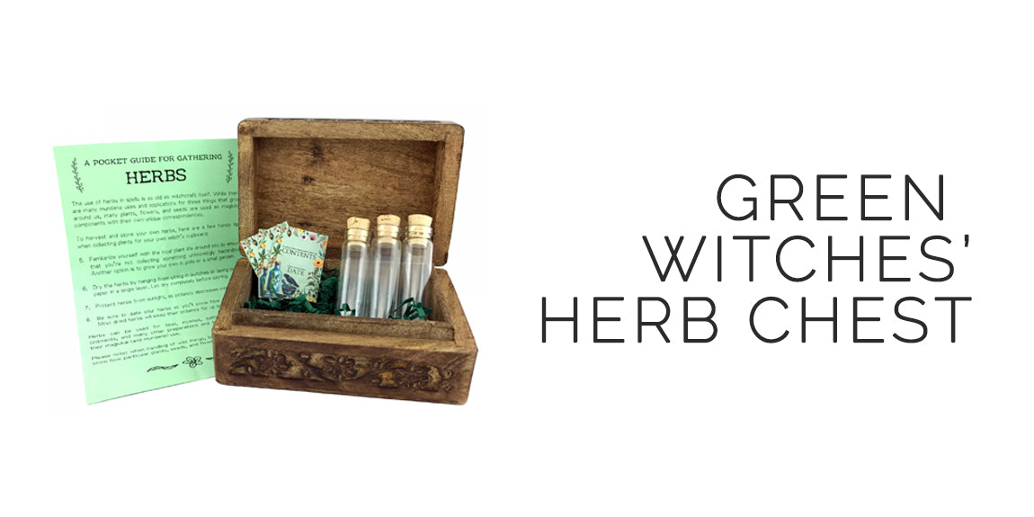 Green Witches' Herb Chest - Sabbat Box = Herbal Witchery Sabbat Box For Litha/Midsummer