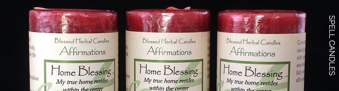 Blessed Herbal Affirmation Candle Spell Candle