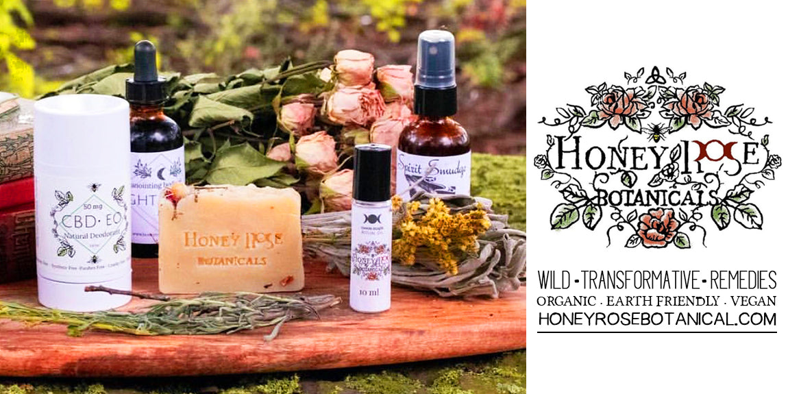 Honey Rose Botanicals Vegan Friendly Bath and Body Products