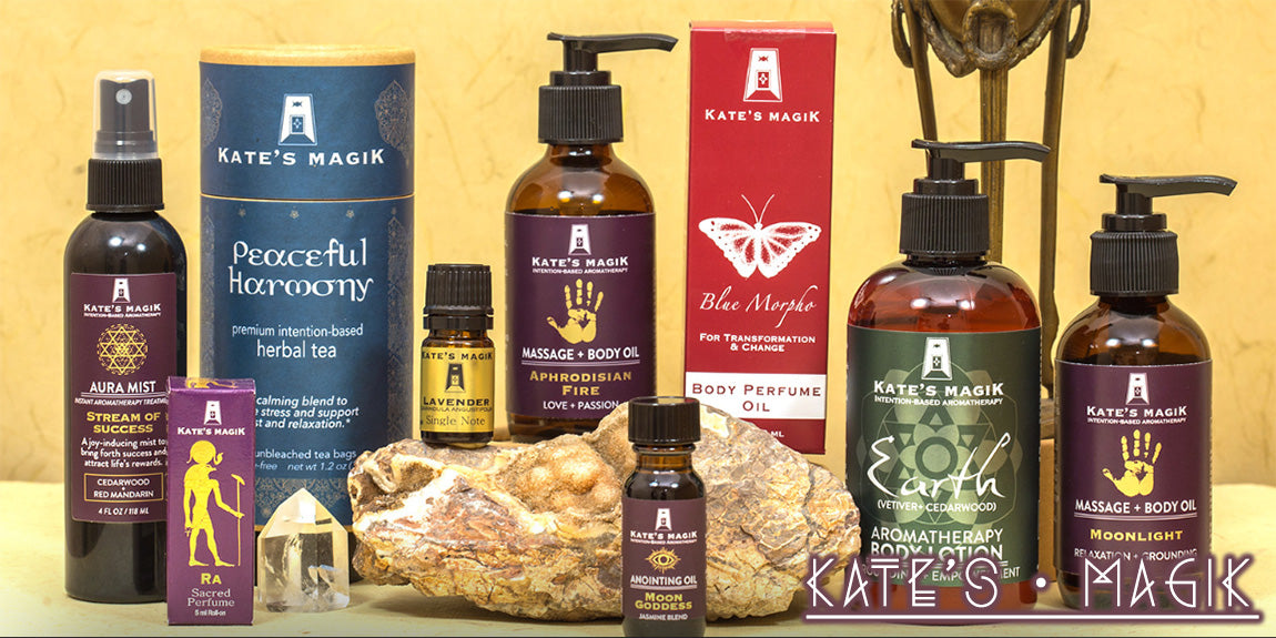 Kate's Magik Reiki Charged Intention Based Aromatherapy Products