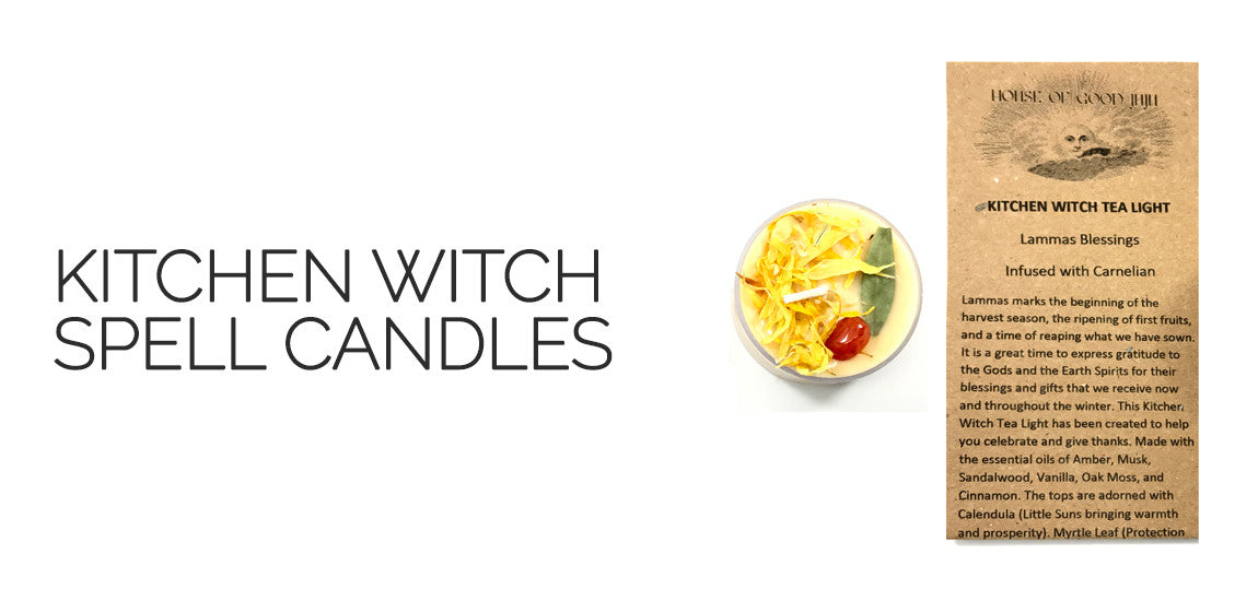 Lammas Kitchen Witch Spell Candles By House of Good Juju