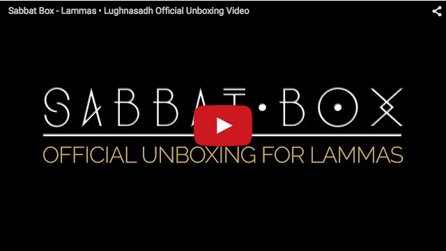 Sabbat Box Lammas Box Lughnasadh Box Unboxing Video