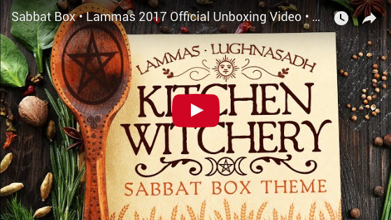 2017 Lammas Sabbat Box - Kitchen Witchery Unboxing Video