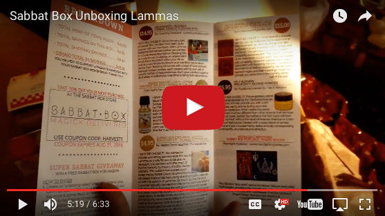 Lammas Super Sabbat Giveaway Winner - 2016