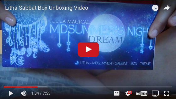 Sabbat Box Litha 2016 Super Sabbat Giveaway Winning Unboxing Video
