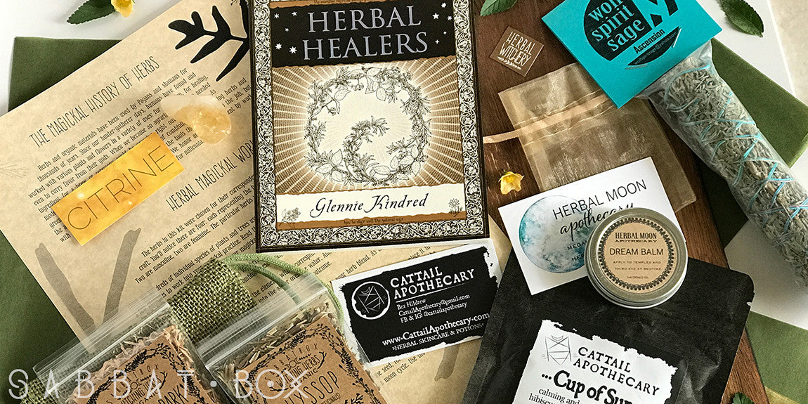 2017Midsummer Sabbat Box - Herbal Witchery - Hedge Witchery - Subscription Box For Wiccans and Pagans