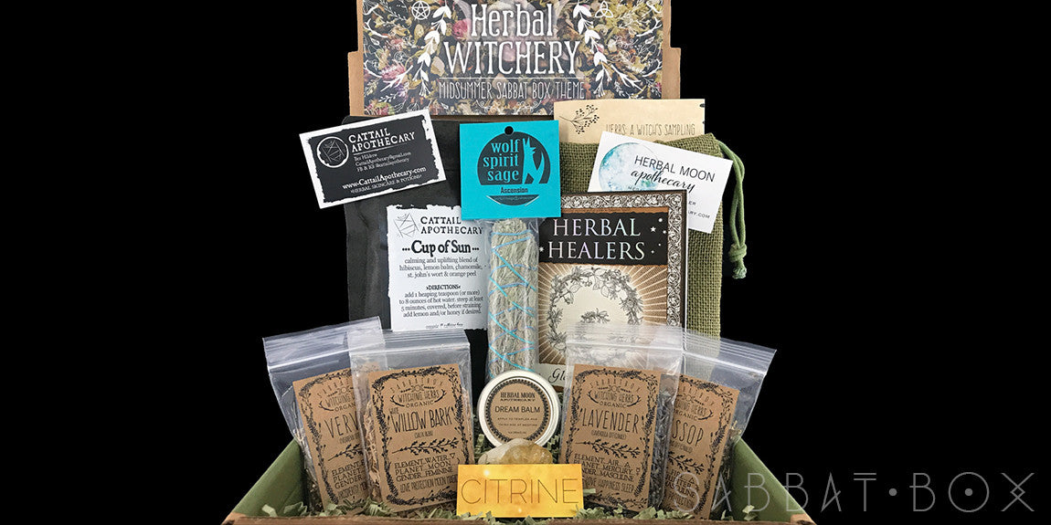 Midsummer Sabbat Box Subscription Box For Witches Wiccans and Pagans
