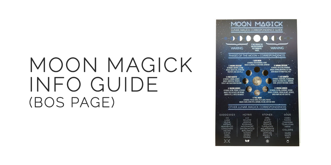 Moon Magick Lunar Correspondence Guide Sabbat Box Moon Magick Mabon Box Witch Subscription Box