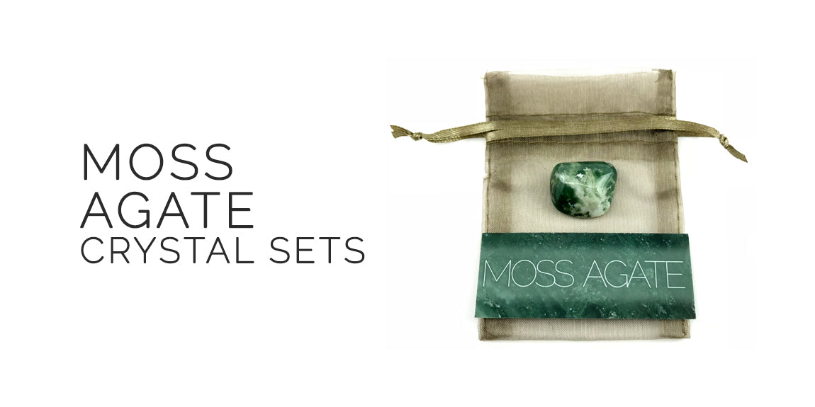 Moss Agate Gemstone Set By Sabbat Box - Midsummer Sabbat Box