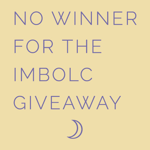 No Winner for the Imbolc Super Sabbat Giveaway for 2017