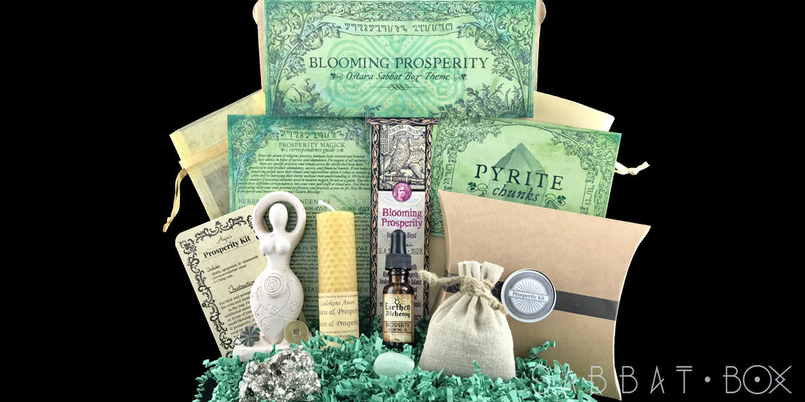 2019 Ostara Sabbat Box - Blooming Prosperity  Witch Subscription Box Wiccan Subscription Box Pagan Subscription Box