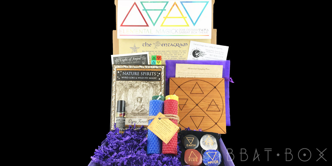 2018 Ostara Sabbat Box Elemental Magick Box Subscription Box For Witches Wiccans and Pagans