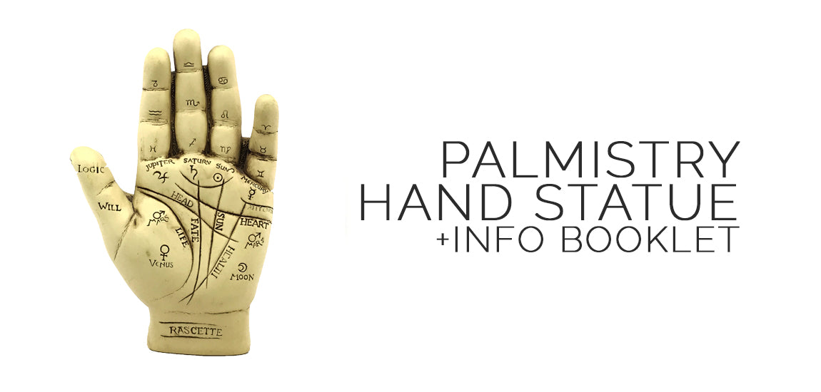 Palmistry Hand Statue Kit With Info Booklet - Samhain Sabbat Box
