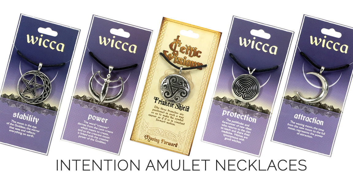 Pewter Symbol Amulet Necklaces