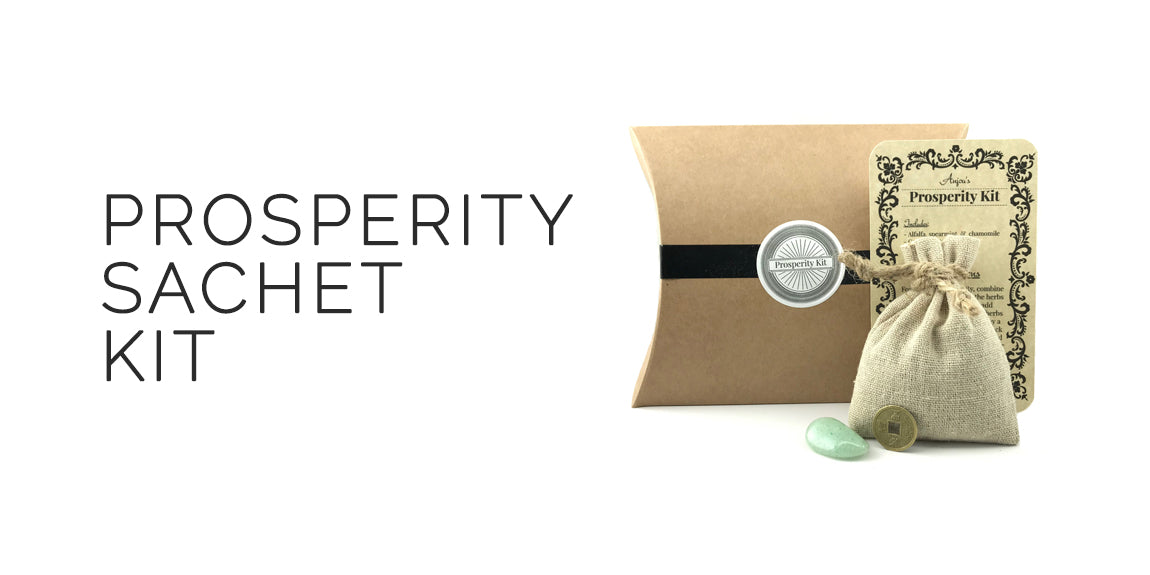 Prosperity Herbal Sachet Kit By Light of Anjou - 2019 Ostara Sabbat Box