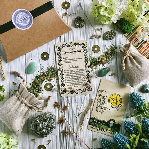Prosperity Herbal Sachet Kit By Light of Anjou - Featured inside the 2019 Ostara Sabbat Box