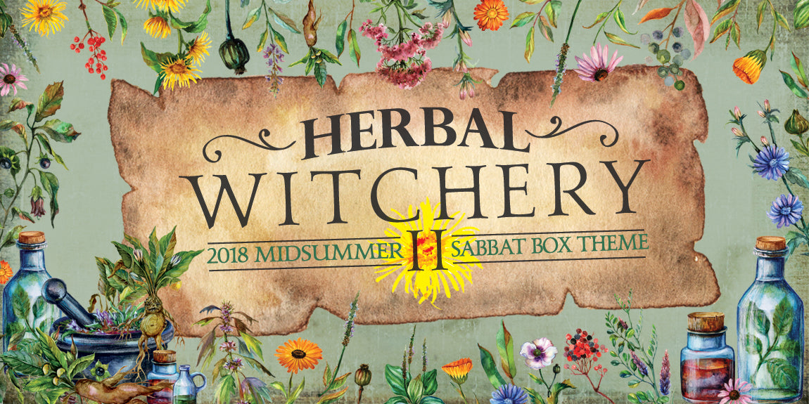 Herbal Witchery 2018 Midsummer Sabbat Box