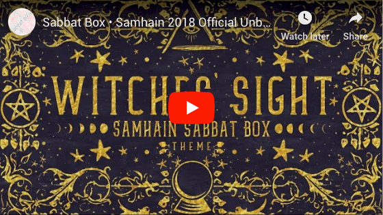 Witches' Sight Samhain Sabbat Box Unboxing Video