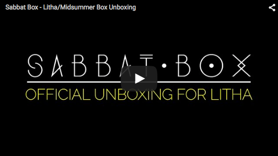 Official Sabbat Box Unboxing Video Litha/Midsummer